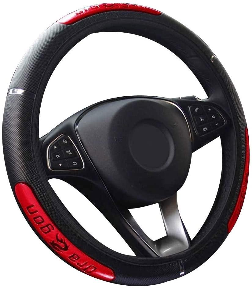 Steering Wheel Covers China Dragon for SEAT Ibiza Leon Toledo Arosa Alhambra Exeo FR Supercopa Mii Altea Cordoba cupra concept