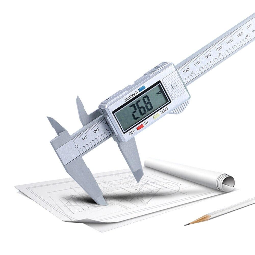 150 мм/6 дюймов жидкокристаллический цифровой прямой считывающий жидкокристаллический Электронный штангенциркуль микрометр из углеродного...