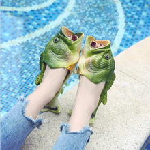 2021 Fish Slippers Fashion Outer Wear Summer Girls Flip Flops Creative Funny Couple Fish-shaped Pare
