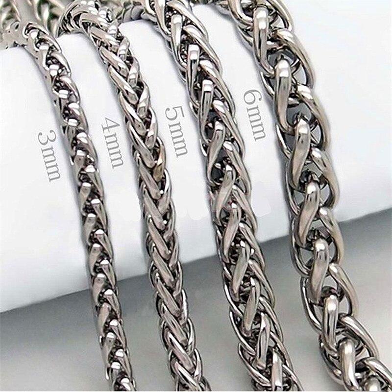 HNSP 316L нержавеющая сталь цепочка на шею для мужчин 3 мм/4 мм/5 мм/6 мм ширина мужские ювелирные изделия ожерелье