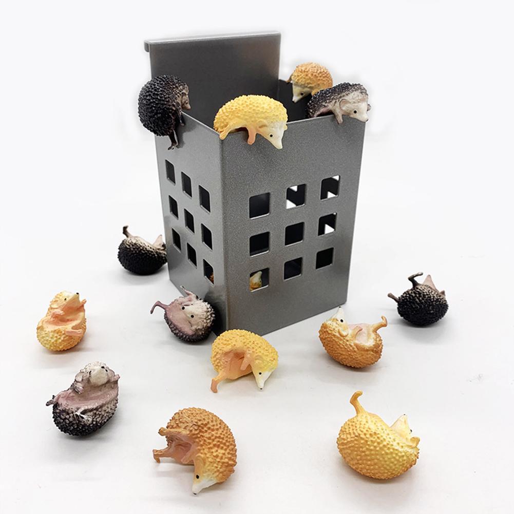 4 Uds. Mini muñeco con forma de Animal erizo que cuelga en la taza de la taza colgante adorno decoración del hogar de escritorio