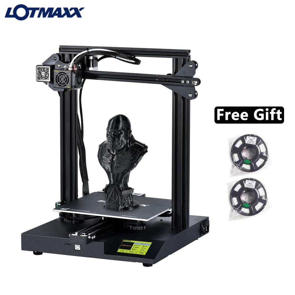 LOTMAXX SC-10 DIY 3D Printer Kit Silent Printing Build Volume Filament Run Out Detection Add 2pcs 200g Free Filament