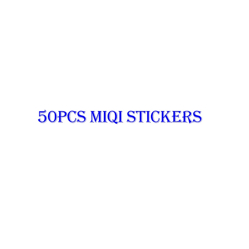 50 unids/set serie de pegatinas Miqi para ordenador portátil equipaje Juguetes Coche motocicleta para coche para niños Pegatinas