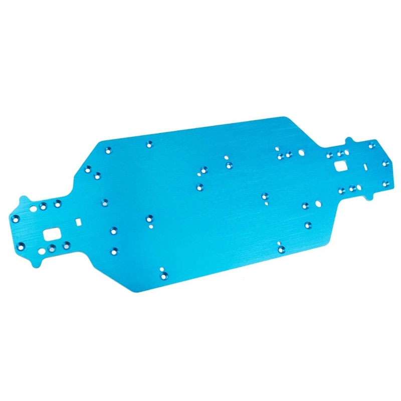 For HSP 03001 03602 Aluminum Alloy Metal Chassis M Thickness 1/10 Upgrade Parts for Flying Fish 94103 94123,Blue enlarge