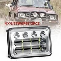 4x6 led headlight rectangular 6inch 46 headlamp for peterbil kenworth freightinger ford probe chevrolet oldsmobile cutlass 12v