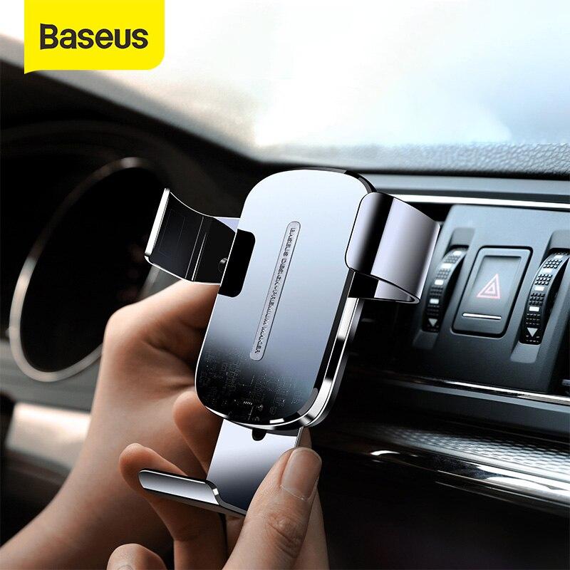 Cargador de coche inalámbrico Baseus de 15W para soporte para teléfono móvil montaje en salida de aire de coche soporte de carga inalámbrica rápida soporte de teléfono para coche