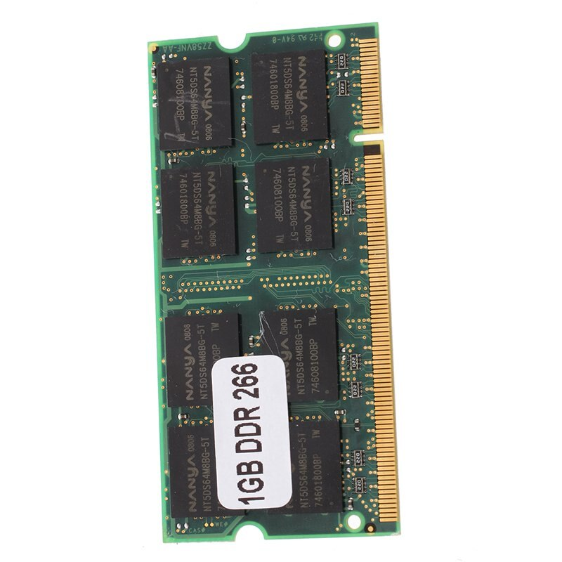 1GB pamięć RAM pamięć PC2100 DDR CL2.5 DIMM 266MHz 200-pin Notebook Laptop