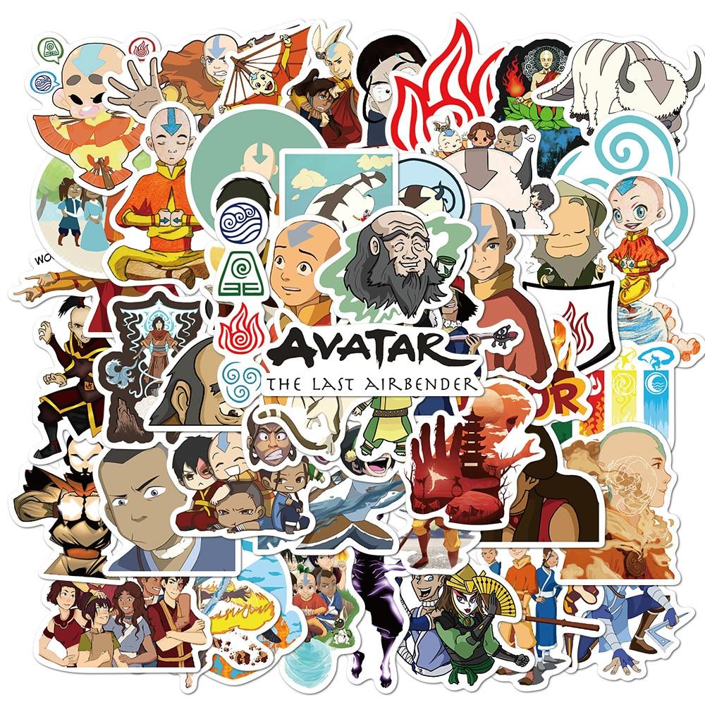 50Pcs Avatar Anime De Laatste Airbenders Stickers Voor Telefoon Snowboard Laptop Bagage Koelkast Diy Gift Stickers Kinderen Speelgoed