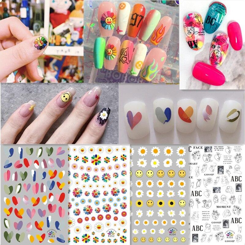 2020new 10 pçs marca etiqueta do prego de luxo manicure decoração por atacado arte do prego dia dos namorados decalque