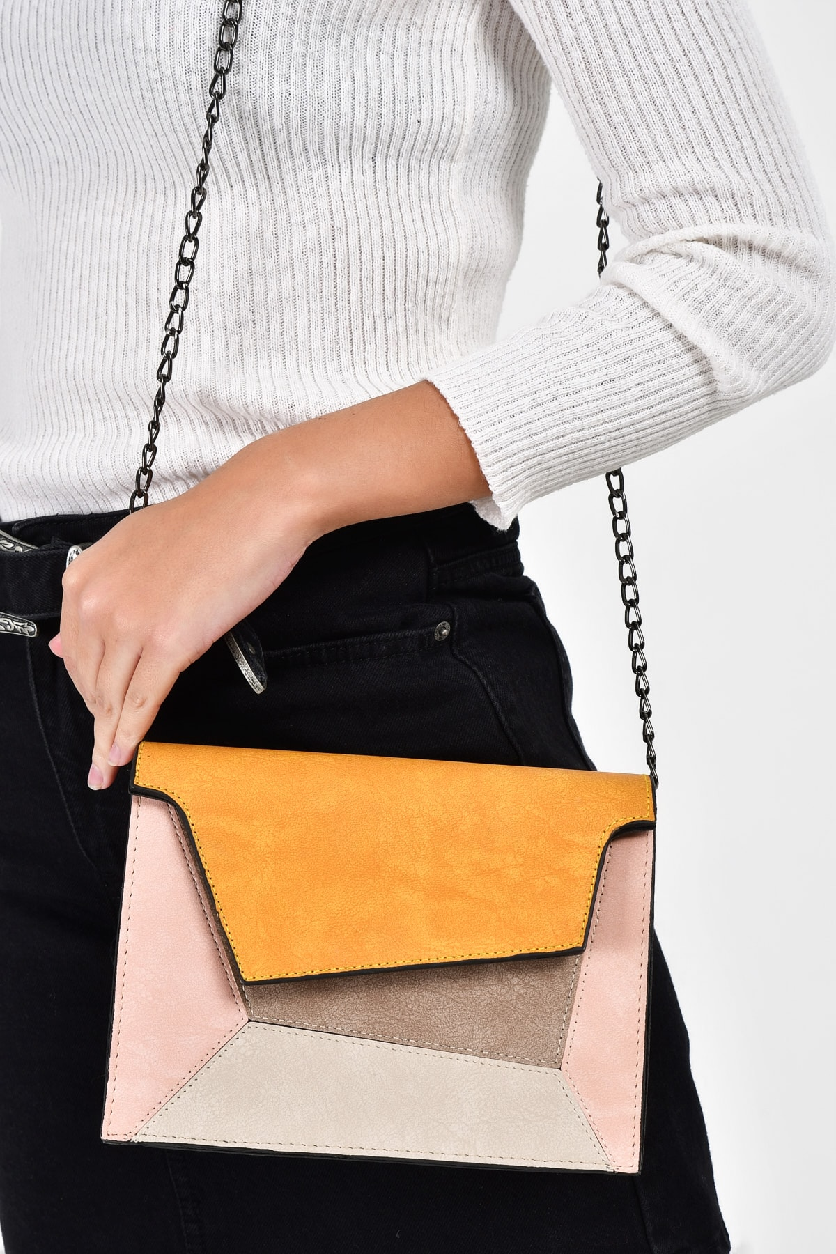 Yellow Womens Piece and Colorful ShoulderBag Fashion Trend Shoulder Strap Waterproof Velvet Leather Casual Bag