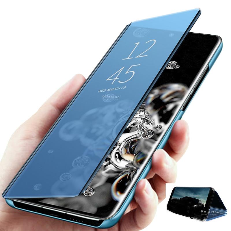 smart sleep mirror flip cover for samsung galaxy s20 ultra s10e s10 s9 s8 s7 s6 edge plus case stand on sansung note 10 plus 9 8