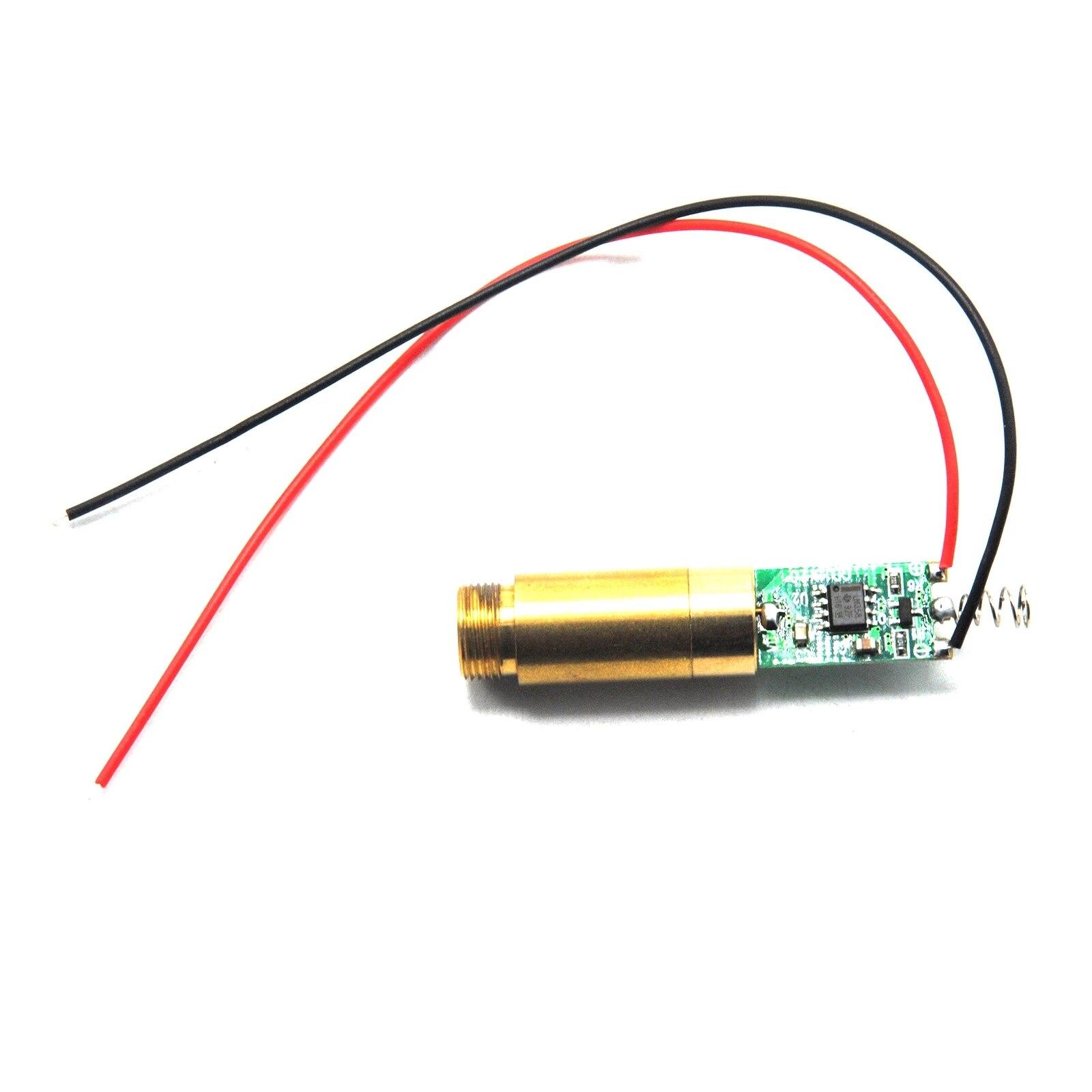 Промышленный 650 нм красный точка лазер диод модуль APC схема 100 мВт 3,7 В постоянного тока 1235