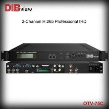 Dibview OTV-75C Professional DVB DTV DVB-C ISDB-T ATSC-T DVB-T/T2 DVB-S/S2 DVB-S2X to Mpeg2 Mpeg4 H.265 HEVC HD IRD decoder