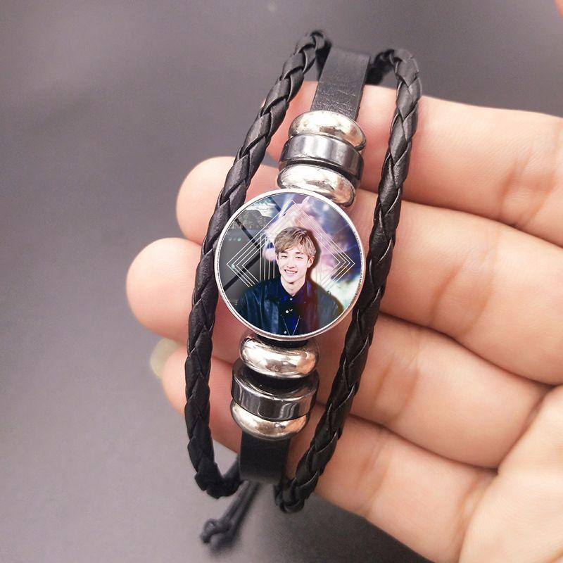 Kpop Streu Kinder Album foto Kristall Armband DIY Geflochtene Perlen koreanische mode stil geschenk für fans sammlung kpop streu kinder