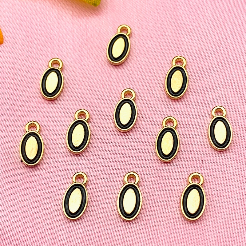 10Pcs Charms Gold Color Alloy Mini Oval Egg Pendant Charm For Earring Necklace Handmade DIY Jewelry Making Accessories Wholesale недорого