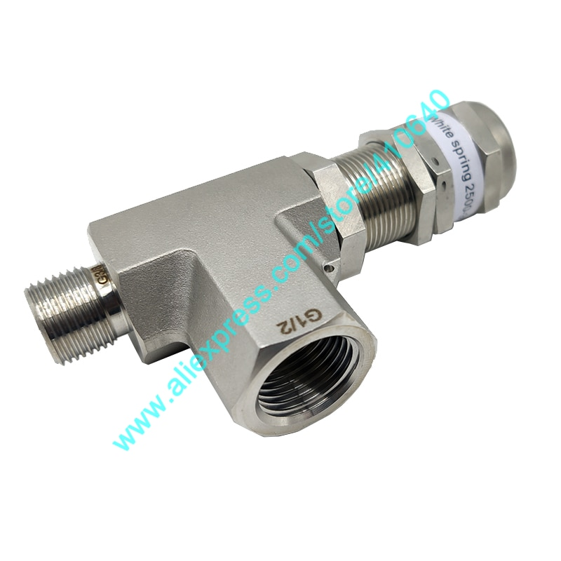 SS316L 2500 to 3500 psi Stainless Steel High Pressure Safety Valve Proportional Unloading Valve Pressure Safety Relief Valve earth star brass safety valve solar pressure relief valve 3bar 1 2 thread high quality