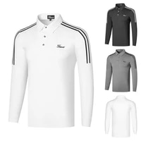 2021 spring golf clothing mens long sleeve breathable quick drying outdoor sports polo shirt casual fashion splicing