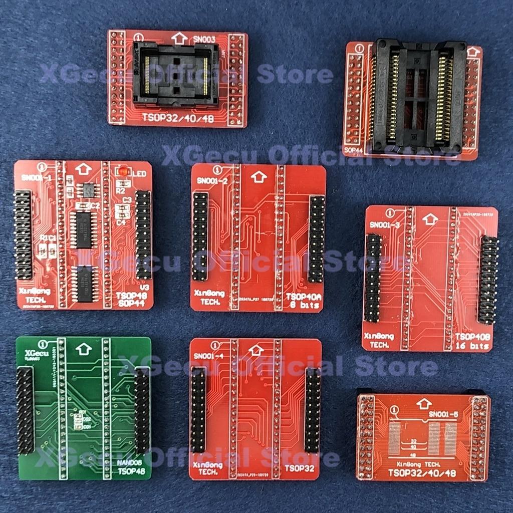 NAND TSOP32/40/48 TSOP48 SOP44 zócalo ZIF adaptador para XGecu TL866II más programador Universal USB SPI Flash