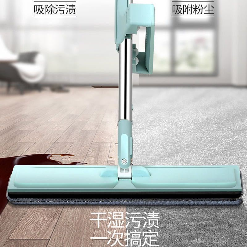 Cleaning Cloth Mop Microfibre Cleaner Floor Tools Wash Dry Reusable Lazy Mops Easy Wring Fregona Household Cleaning Tools DF50TB enlarge
