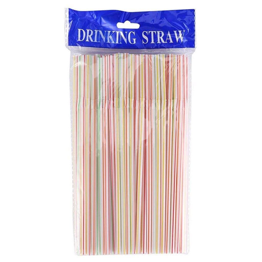 Einweg farbige ellenbogen material strohhalme verlängert und biegsamen saft trinken milch tee stroh 100 stücke товары для дома и кухни