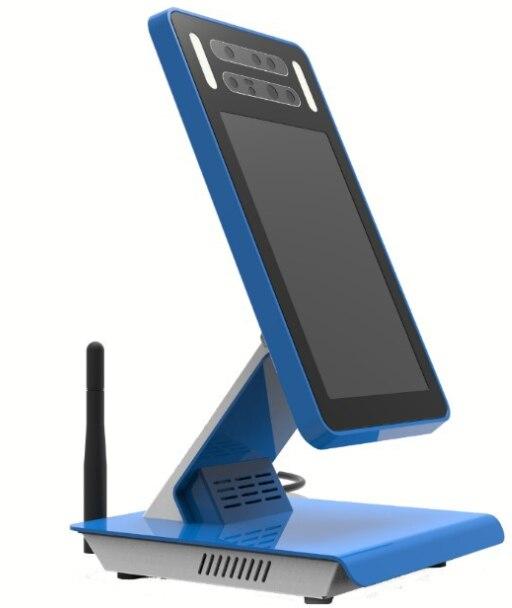 Terminal de pago de reconocimiento facial de centro comercial AIO con pantalla de monitor IPS de 8 pulgadas cámara de luz de estructura 3D con 4G módulo