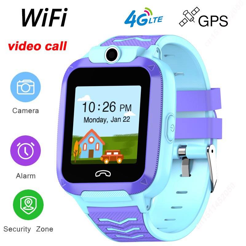 2020 nuevo reloj inteligente para niños 4G, videollamada IP67, impermeable, WIFI, Smartwatch, cámara con rastreador gps, Tarjeta sim para niños, Android