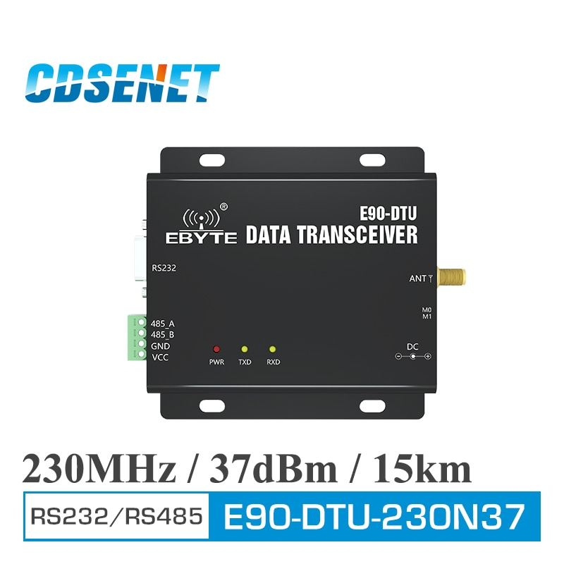 E90-DTU(230N37) Wireless Transceiver RS232 RS485 230MHz 5W Long Distance 15km Narrowband 230 MHz Transceiver Radio Modem