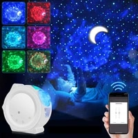 Smart Starry Sky Projector Galaxy Projector 3in1 Night Light Ocean Voice Music Control Lamp For Kid Gift Smart Life led