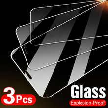 Закаленное стекло для iPhone 7 8 6 6s Plus 5S SE, защитная пленка для экрана iPhone X, XS, XR, 11, 12 Pro Max, 12D, 3 шт.