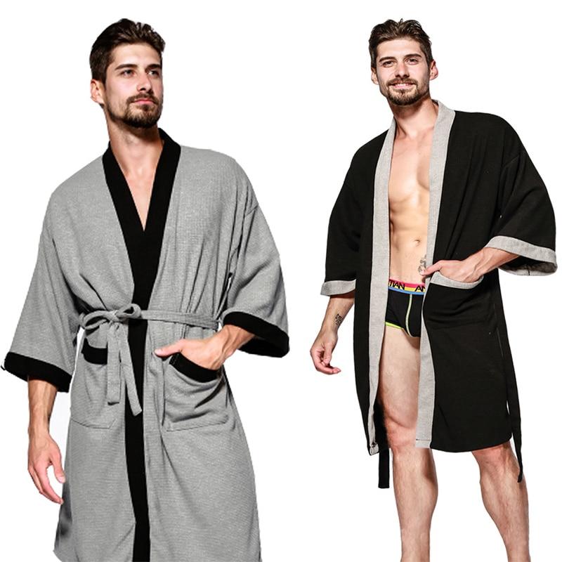 Для мужчин Ночная одежда Отель хлопковый Халат-полотенце впитывает пот и банное полотенце для сауны Для мужчин, одежда для сна, Для мужчин s ...