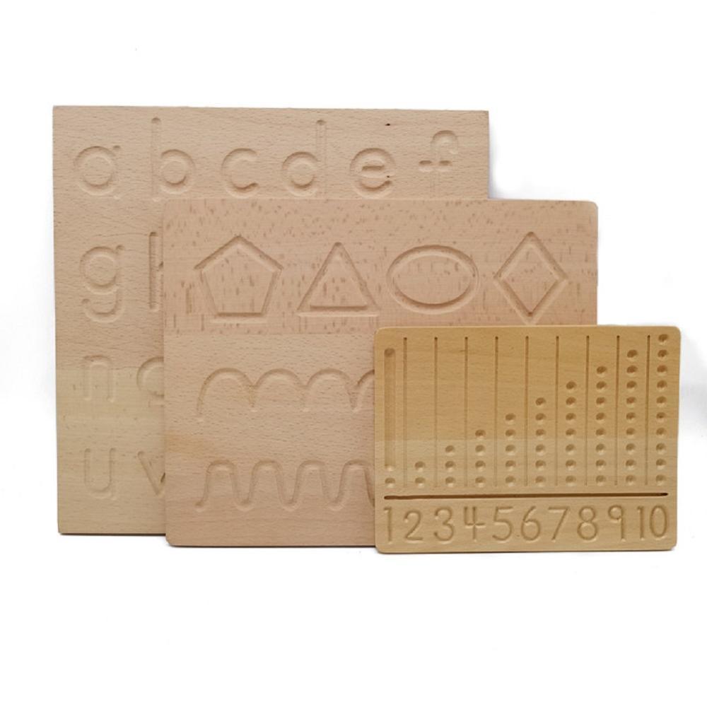 Wooden Montessori Materials Digitals Cognition Board Montessori Math Writing Practice with Wooden Pen Toys for Children G2966F