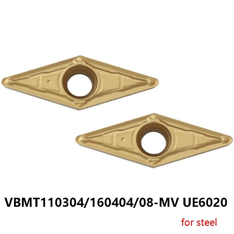 الأصلي مخرطة القاطع VBMT VBMT110304-MV VBMT160404-MV VBMT160408-MV UE6020 للصلب كربيد تحول أدوات