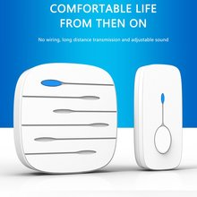 A202 Wireless Doorbell Remote Transmission Sound Adjustment Stable Signal Rainproof 52 Music Househo
