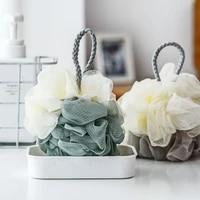 loofah bath ball mesh sponge 1 piece milk shower accessories bathroom supplies bath flower soft sponge skin cleaning brush