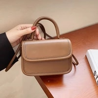 mini solid color pu leather flap crossbody bags for women 2021 new vintage luxury designer female shoulder bag handbags purses