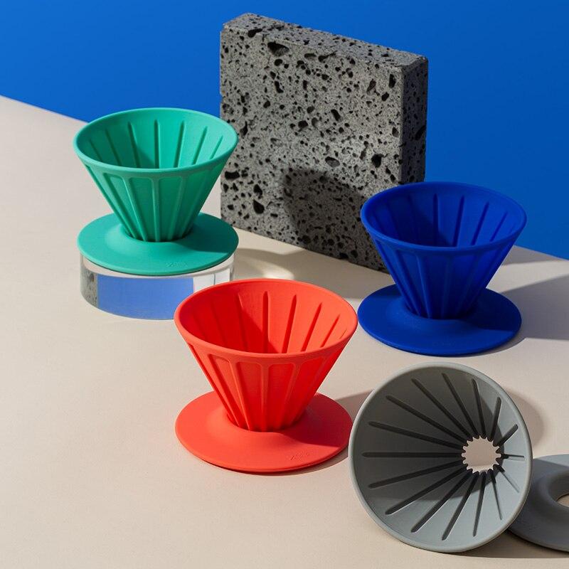 Portátil de Filtro de café reutilizable Barista herramientas goteador de café máquina...