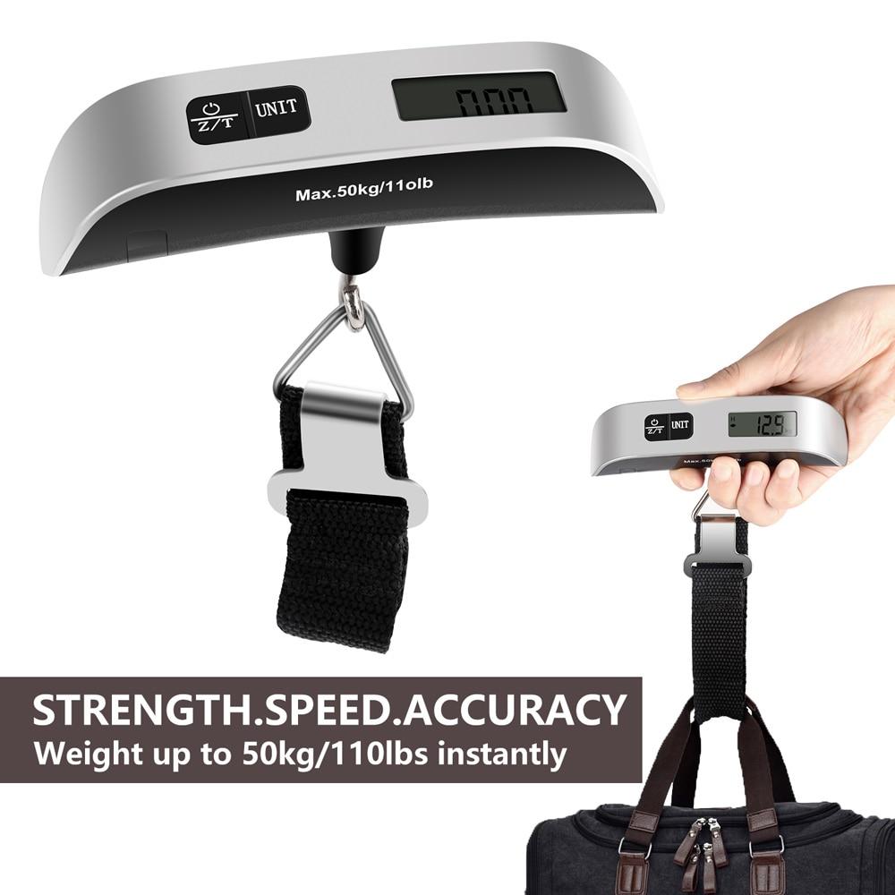 Электронные весы для багажа, инструмент для взвешивания багажа, подвесной чемодан, портативные весы для багажа 50 кг/110 фунта