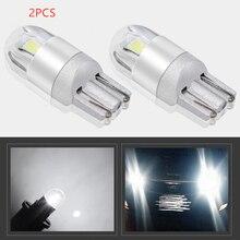 2pcs LED Bulbs White 168 501 W5W LED Lamp  Wedge 3030 2SMD Interior Lights 12V - 24V 6000K
