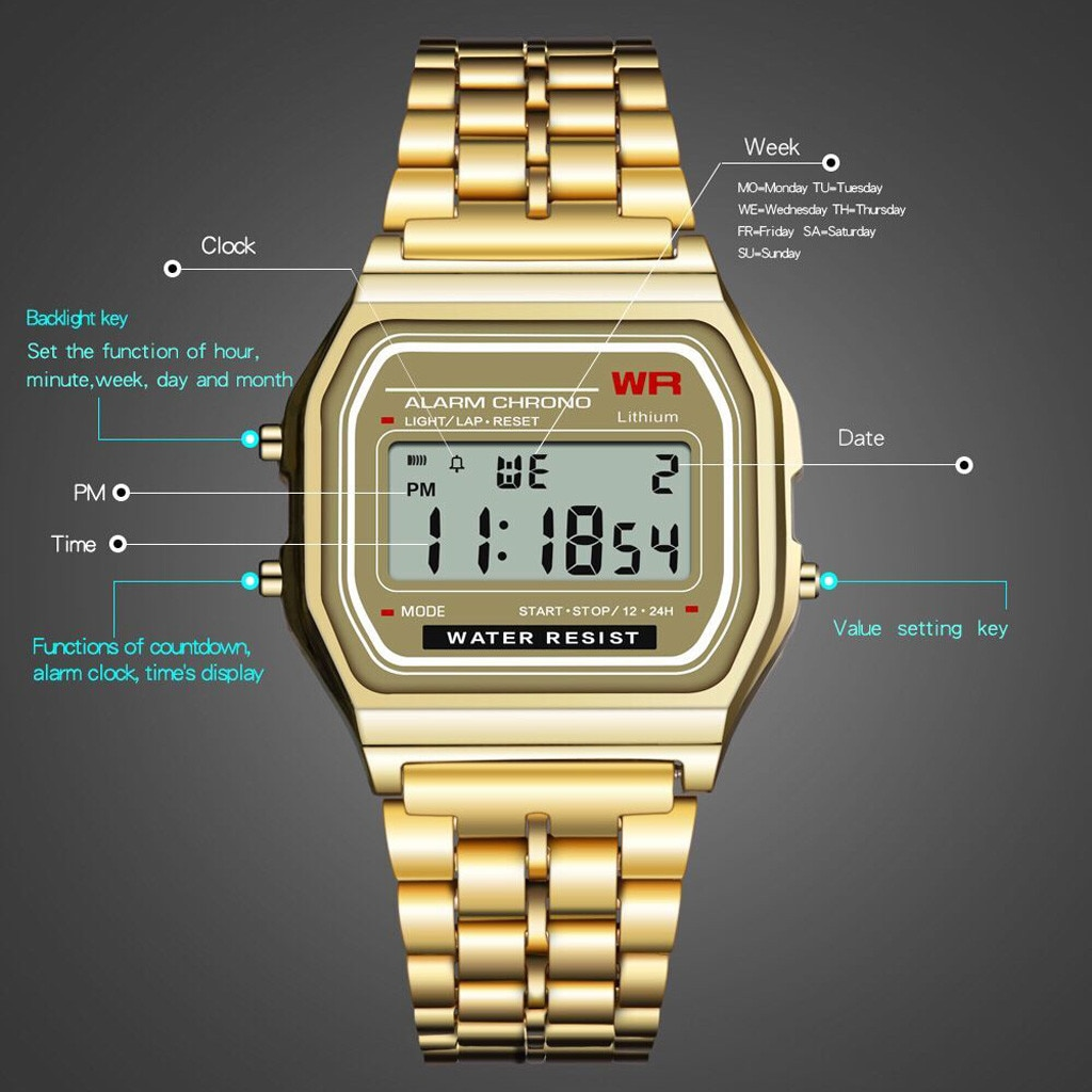 Relojes LED casuales deportivos para hombre reloj Digital para hombre resistente al agua reloj de pulsera militar Hodinky Ceasuri reloj Masculino