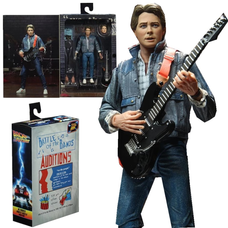 NECA Figure Marty Audition Version Singing Guitar Back To The Future UL Timate Marty Mcfly Movable J