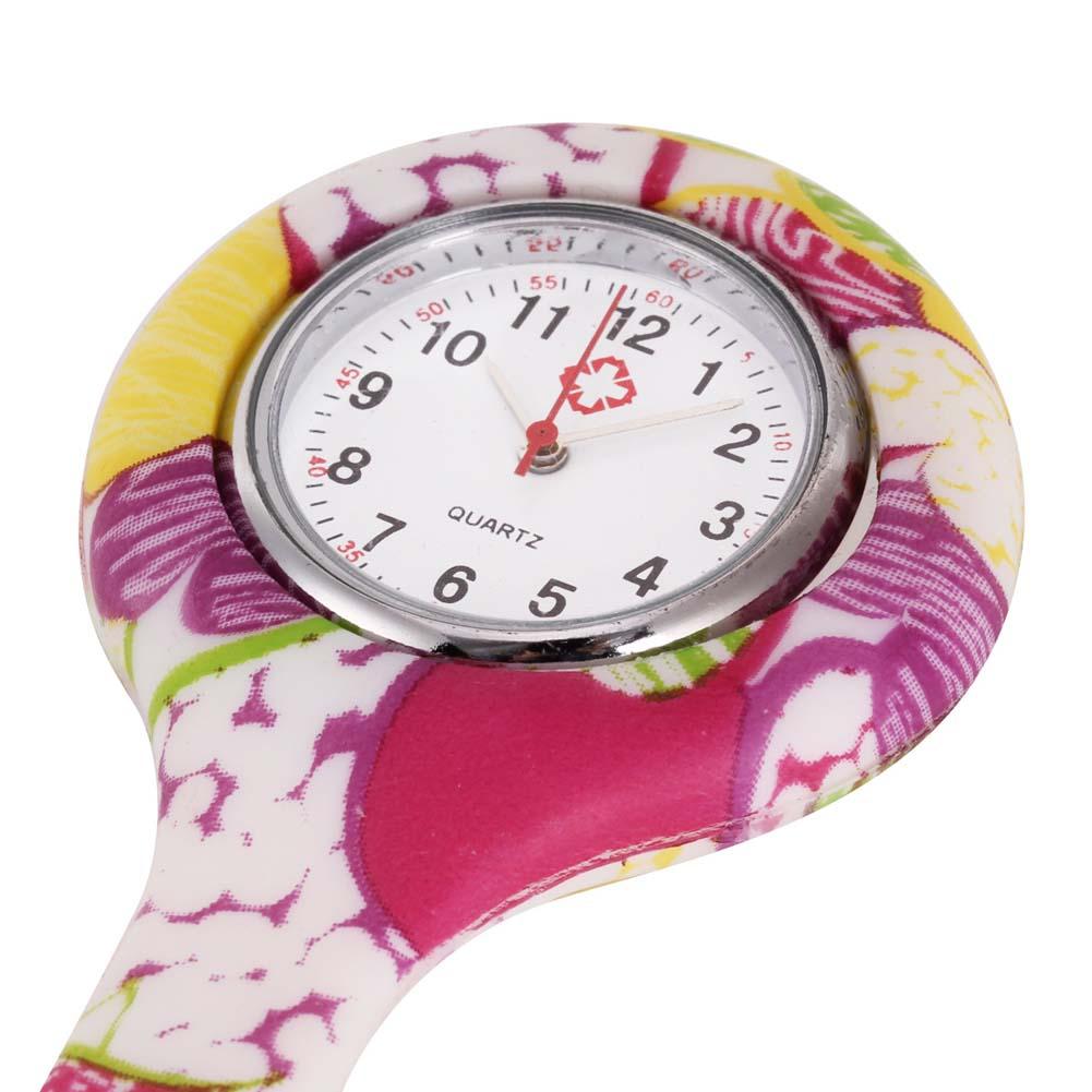 Relojes de enfermera de estilo impreso Clip-on Fob broche colgante de bolsillo colgante médico enfermeros reloj de cuarzo médico PR venta