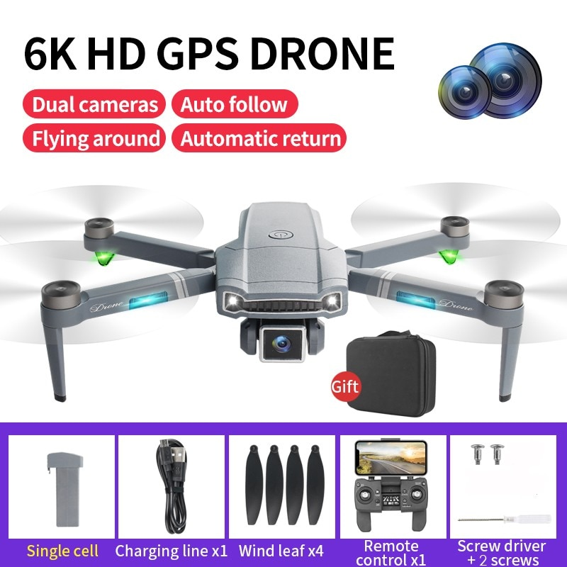 2021 S179 GPS Profesional Drone 4K/ 6K HD Dual Camera Brushless Motor Dron Dual Positioning 5.8G Wifi FPV Foldable RC Quadcopter
