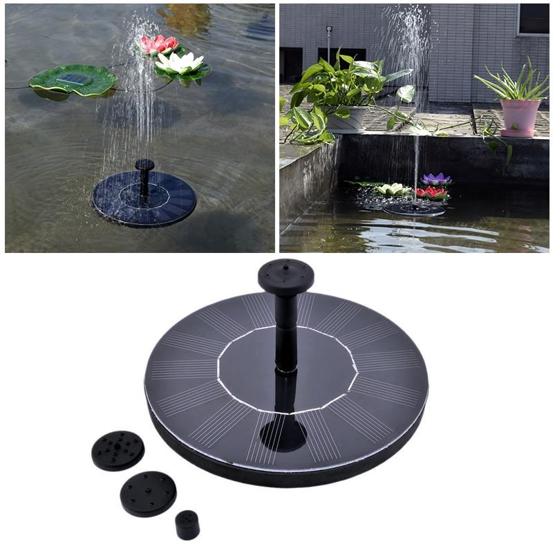 Bomba de agua de Fuente de energía Solar al aire libre, flotante,...