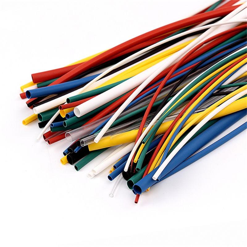 Flame Retardant Durable 7 Color Assorted Colors Ratio 2:1 Polyolefin Heat Shrink Tubing Tube Kits 5 sizes 70 pcs