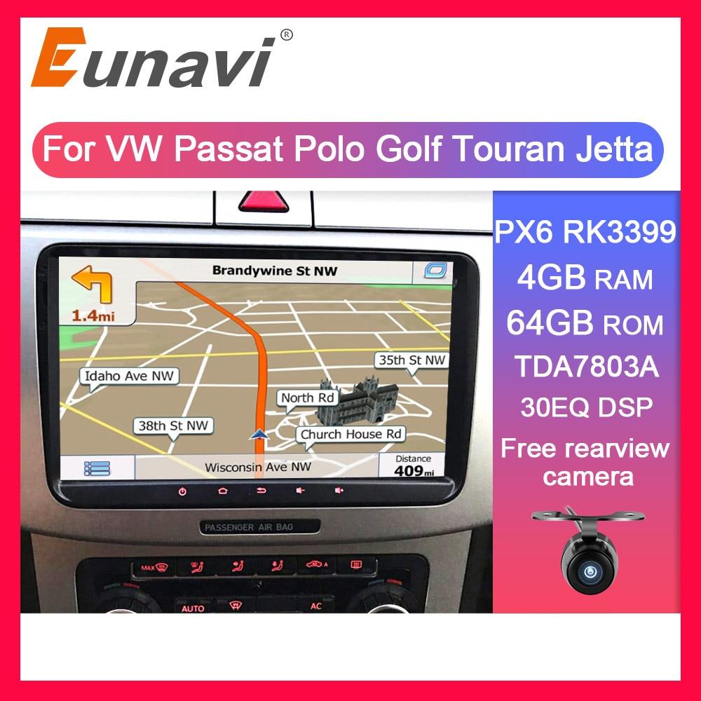Eunavi 2 Din Android Auto-Multimedia-Player Für VW Jetta Golf MK5 MK6 Passat B6 Polo Skoda Auto Radio GPS video Audio Steuergerät 4G
