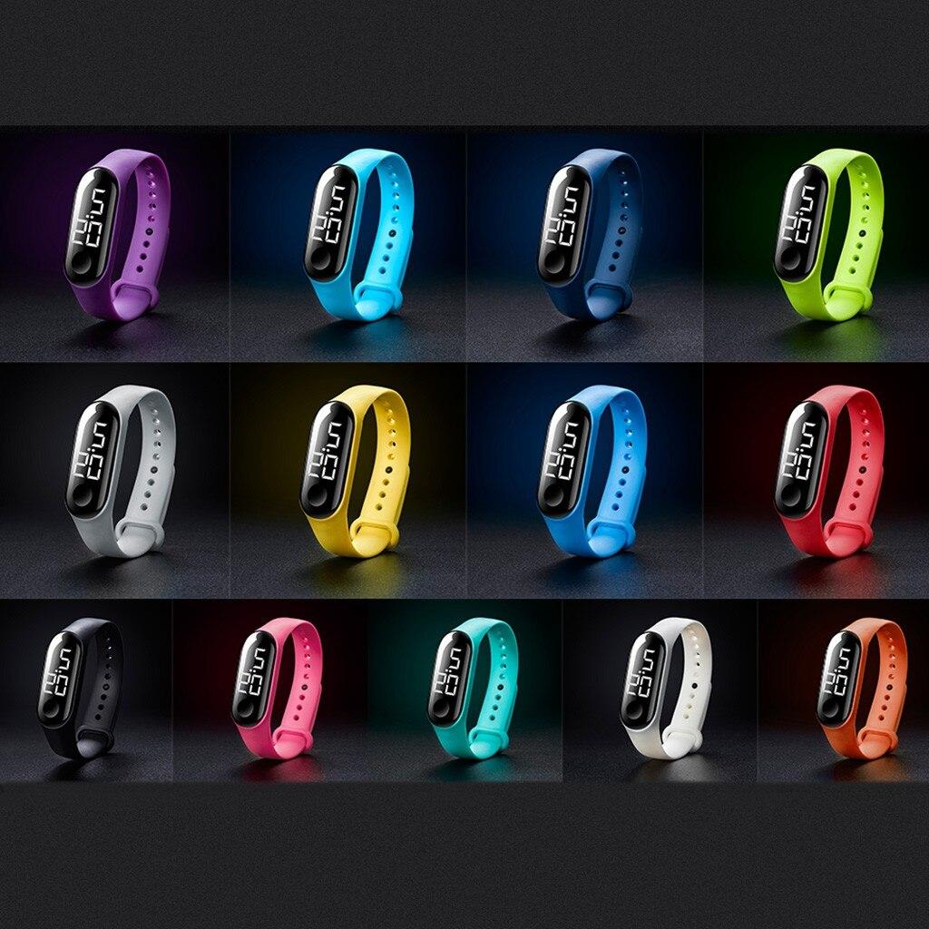 Relojes unisex con Sensor luminoso LED para deportes electrónicos, relojes de moda para hombres y mujeres, relojes sevgili saati