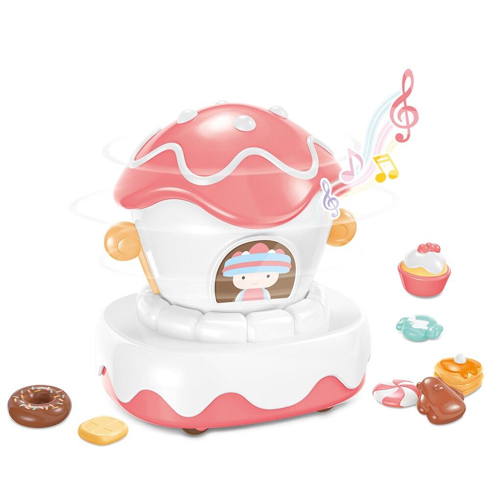 77 niños juegan juegos con video juegos pastel desfile flotador gira 360 ° música reproducción Macaron curativo colores guía El cardan