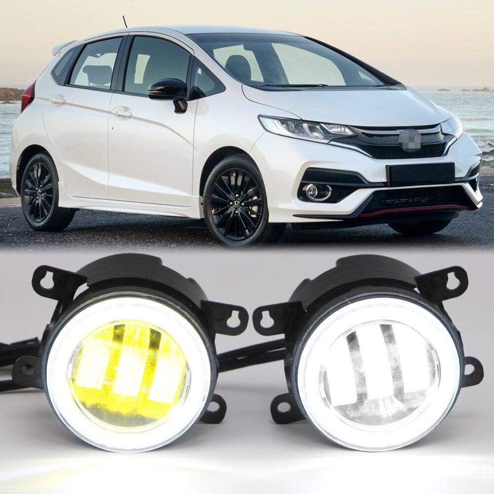 مصباح ضباب LED مزدوج اللون أبيض/أصفر ، طاقة عالية 20 وات ، لأكورا ، فورد ، هوندا ، جاغوار ، نيسان ، سوبارو ، سوزوكي
