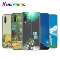 studio ghibli anime for xiaomi mi11 10t note10 ultra 5g 9 9t se 8 a3 a2 6x pro play f1 lite 5g transparent phone case
