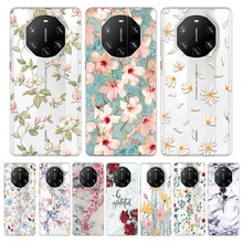 Case For Huawei Mate 40 RS 5G coque Silicone TPU Back Cover On for Mate 40 RS Mate 40rs luxury Flowe